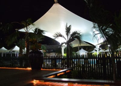Shade Structure Cable beach night